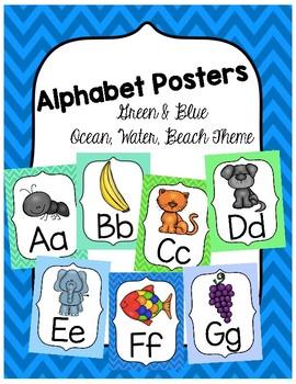 Ocean Alphabet Posters