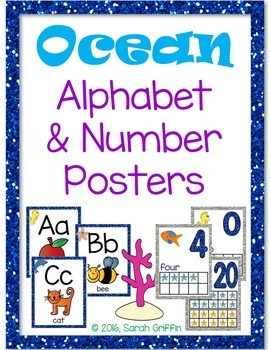Ocean Alphabet and Number Posters - Bundle