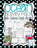 Ocean Animal Activity Pack Math Literacy Games Puzzles Cen