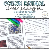 Ocean Animal Close Reading {with Comprehension and Vocabulary}