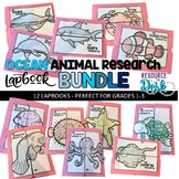 Ocean Animal BUNDLE Research Projects - Twelve Ocean Animal Research Lapbooks