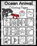 Ocean Animal Coloring Pages for May, Beach, Zoo, Summer Ac