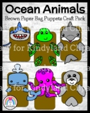 Ocean Animal Craft Pack (Puppets): Shark, Whale, Dolphin, Octopus, Turtle, Seal