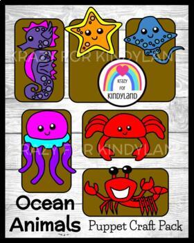 Ocean Crafts: Seahorse,Stingray,Jellyfish,Lobster,Crab,Starfish