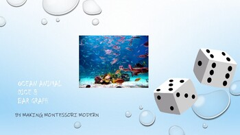 Ocean Animal Dice, Table, and Bar Graph