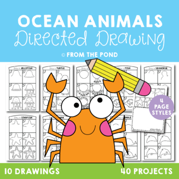 Ocean Animal Directed Drawings {Fun Art + Writing Projects}
