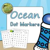 Ocean Animal Dot Marker Center