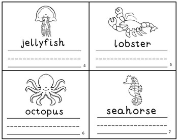 Ocean Animal Emergent Readers Mini-Books Set of 5!
