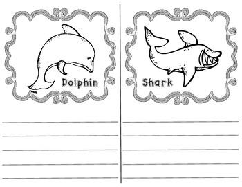 Ocean Animal Fact Book {Blank}