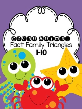 Ocean Animal Fact Family Triangles