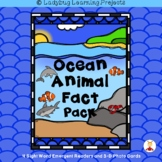 Ocean Animal Fact Pack  (A Sight Word Emergent Reader Pack)