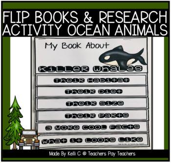 Ocean Animal Flip Book- Informative Writing using Research