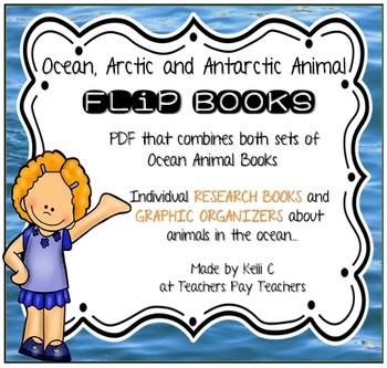Flip Books About Ocean, Arctic & Antarctic Animals ~ Bundled Together