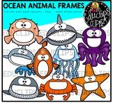 Ocean Animal Frames Clip Art Bundle {Educlips Clipart}
