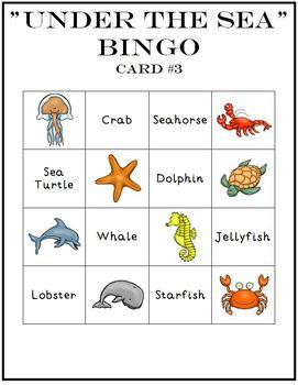 Ocean Animal Game Set Bingo Match Memory Dominoes