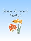 Ocean Animal Games Packet