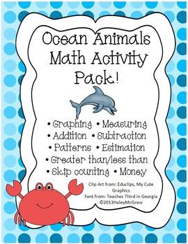 Ocean Animal Math Activity Set Pack