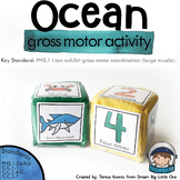 Ocean Animal Gross Motor Activity Movement Dice or Cards Preschool and Kinders