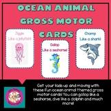 Ocean Animal Gross Motor Cards