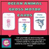 Ocean Animal Gross Motor Cards
