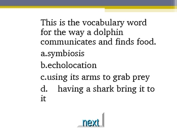 Ocean Animal Jeopardy