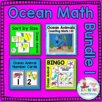 Ocean Animal Math Center BUNDLE 1