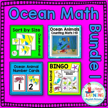 Ocean Animal Math Center BUNDLE 1