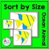 Ocean Animal Sort by Size Math Center