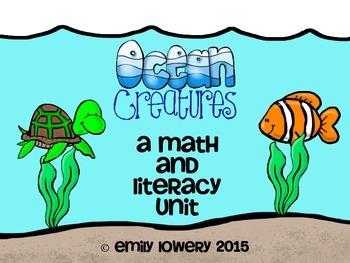 Ocean Animal Math and Literacy Unit