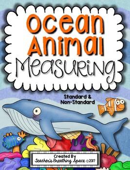 Ocean Animal Measuring Book and Measurement Math Center