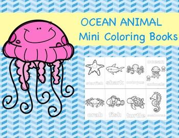 Ocean Animal Mini Coloring Books