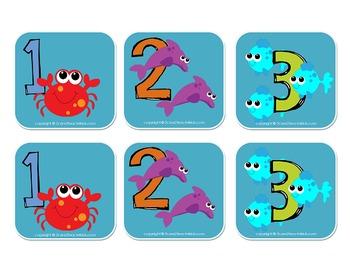Ocean Animal Number Cards