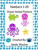 Ocean Animal Number Posters 1-20