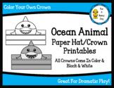 Ocean Animal Paper Hat/Crown Printables