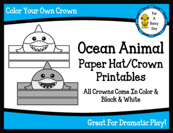 graphic regarding Ocean Animals Printable identify Ocean Animal Paper Hat/Crown Printables