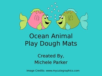Ocean Animal Play Dough/Play-Doh/Playdough Mats