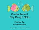 Ocean Animal Play Dough/Play-Doh/Playdough Mats