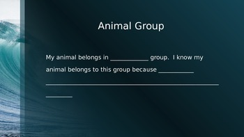 Ocean Animal PowerPoint Research