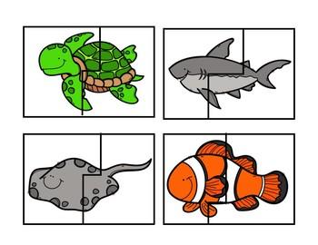 Ocean Animal Puzzle Cards