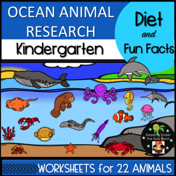 Ocean Animal Research: Diet and Fun Facts Kindergarten