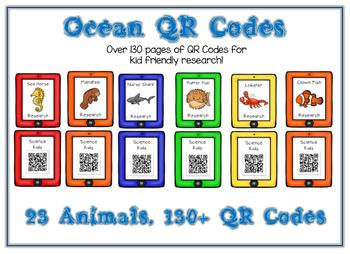 Ocean Animal Research w QR Codes - 23 Pack