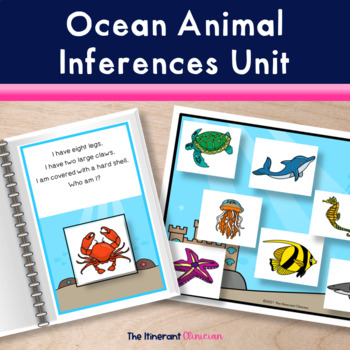 Ocean Animal Riddles Adapted Book, SPEECH THERAPY, Autism,