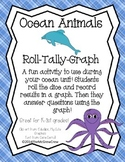 Ocean Animal Roll Tally Graph Math Activity Set