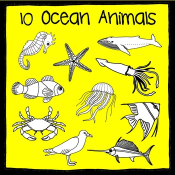 Ocean Animal Scissor, Trace and Stamp - An Animal Literacy Center
