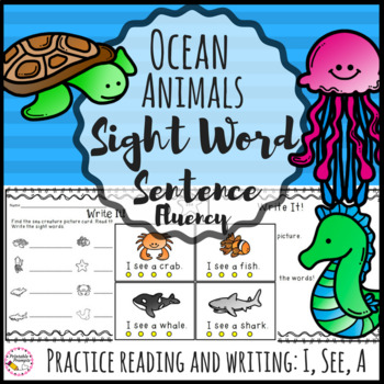 Sight Word Sentences- Ocean Animals