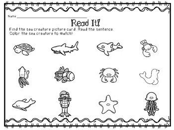 Sight Word Sentences- Ocean Animals