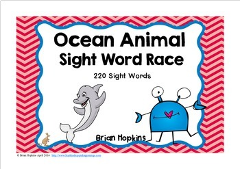 Ocean Animal Sight Word Race