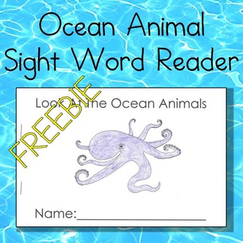 Ocean Animal Sight Word Reader (Look at the...)