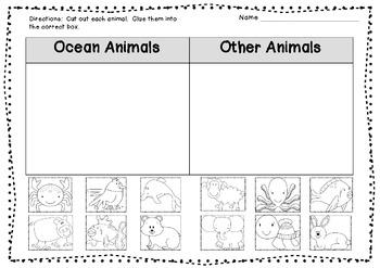 Ocean Animal Sort FREEBIE