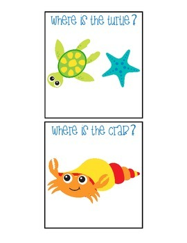 Ocean Animal Spatial Concept Cariboo with Flashcards
